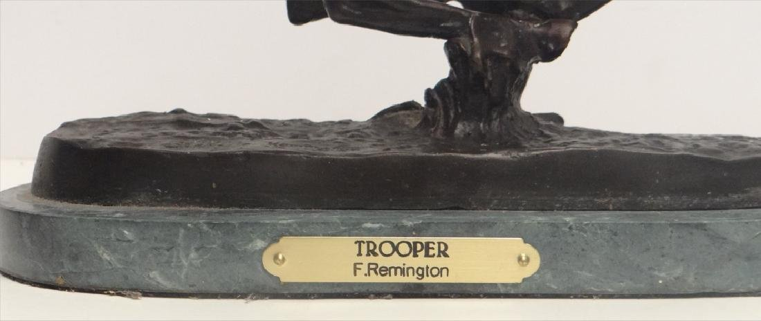 "BRONZE ""TROOPER"" SGND FREDERIC REMINGTON - 8"