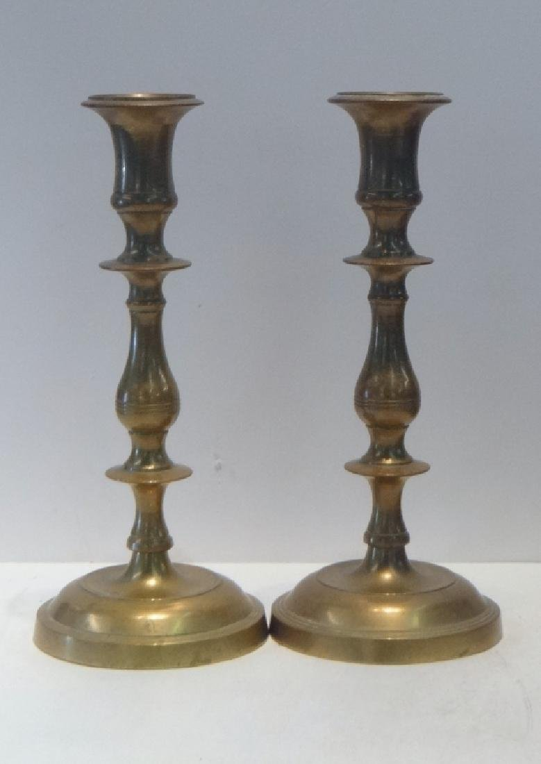 11 BRASS CANDLESTICKS 18TH, 19TH & 20TH CENTURIES - 3