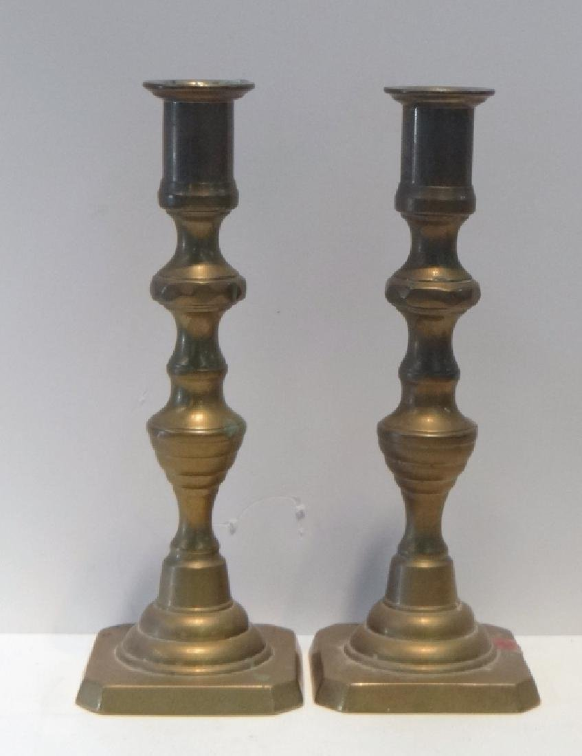 11 BRASS CANDLESTICKS 18TH, 19TH & 20TH CENTURIES - 4