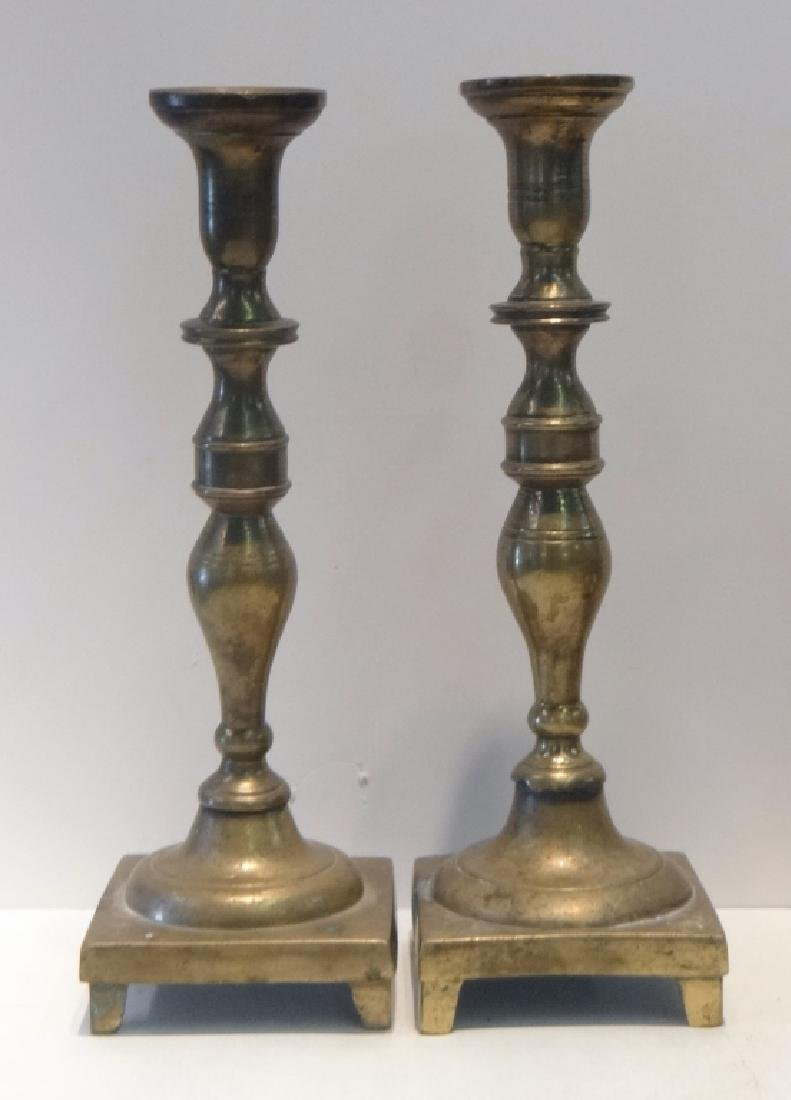 11 BRASS CANDLESTICKS 18TH, 19TH & 20TH CENTURIES - 5