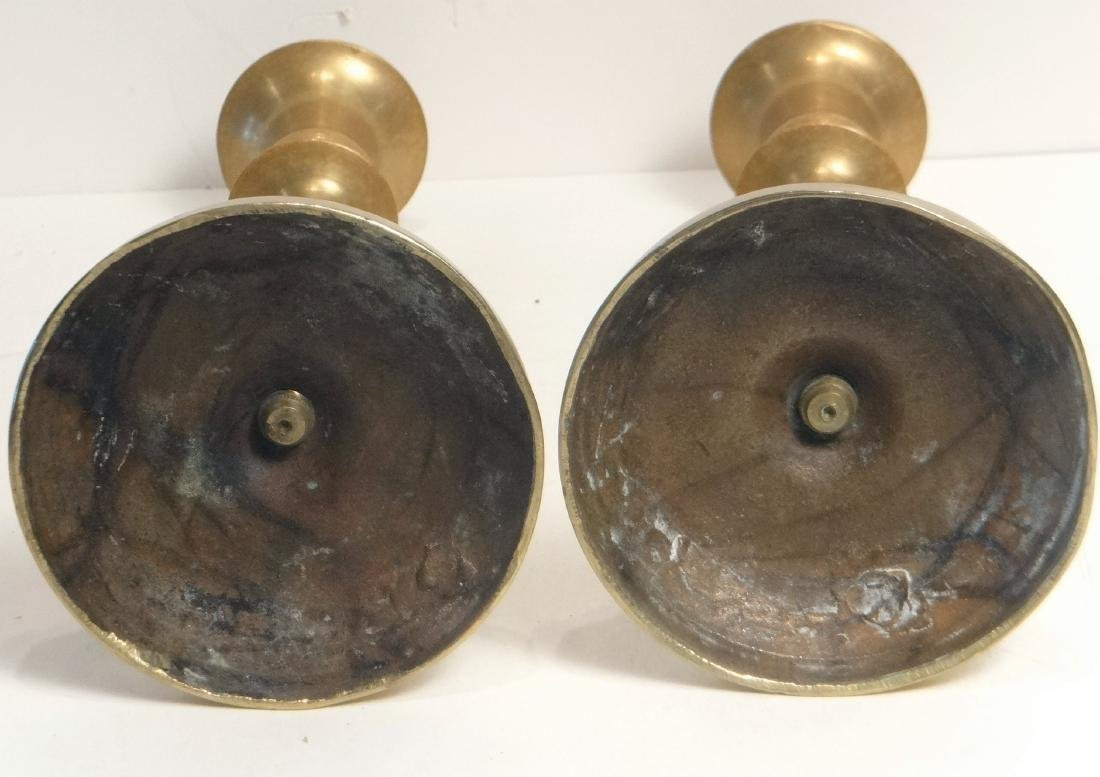 11 BRASS CANDLESTICKS 18TH, 19TH & 20TH CENTURIES - 7