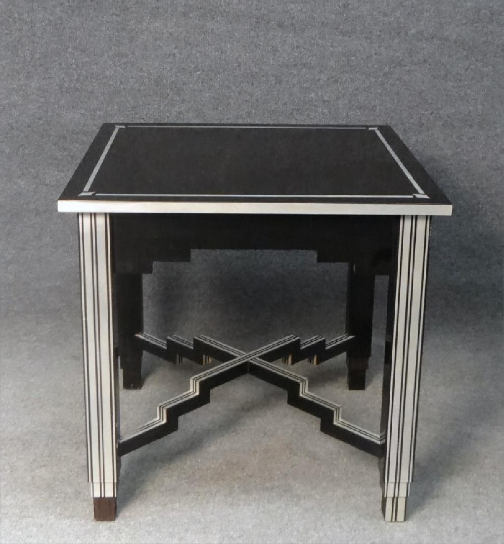 SKYSCRAPER TABLE, LAMINATE OVER WOOD
