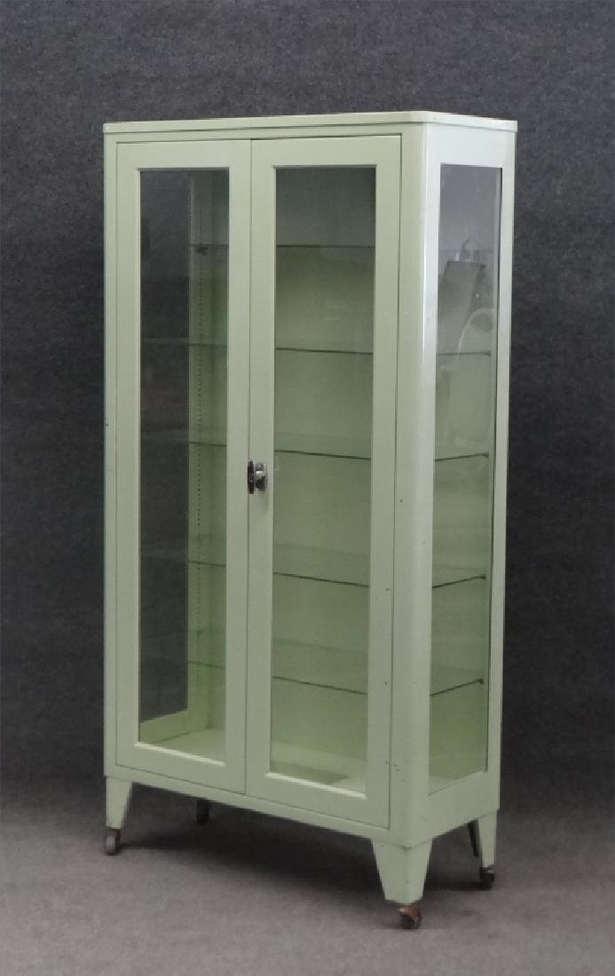 2 DR METAL & GLASS CABINET BY UNITED METAL FABRI. - 3
