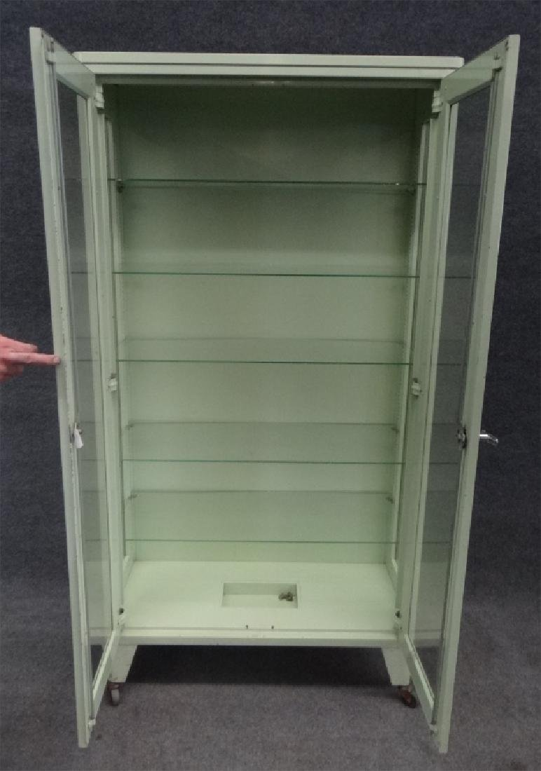 2 DR METAL & GLASS CABINET BY UNITED METAL FABRI. - 4