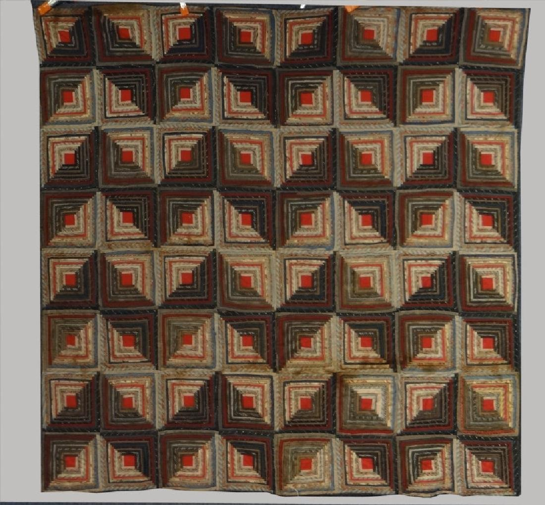 LOG CABIN QUILT, MINOR LOSS & SEPARATION
