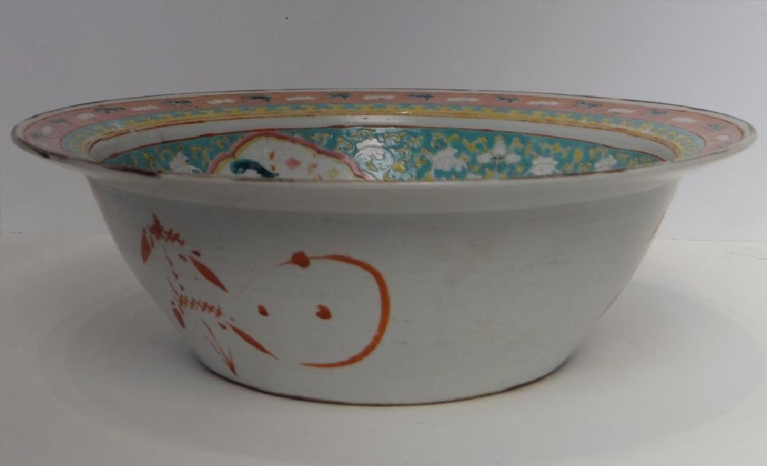 "CHINESE 19THC. FAMILLE VERDE  BOWL 13 1/2"" - 3"