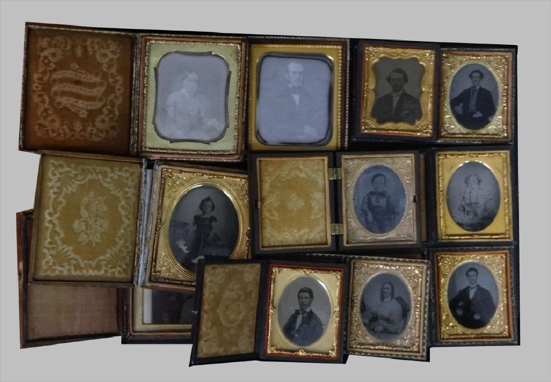 19THC. CASED IMAGES, DAGS, AMBROS & TIN TYPES