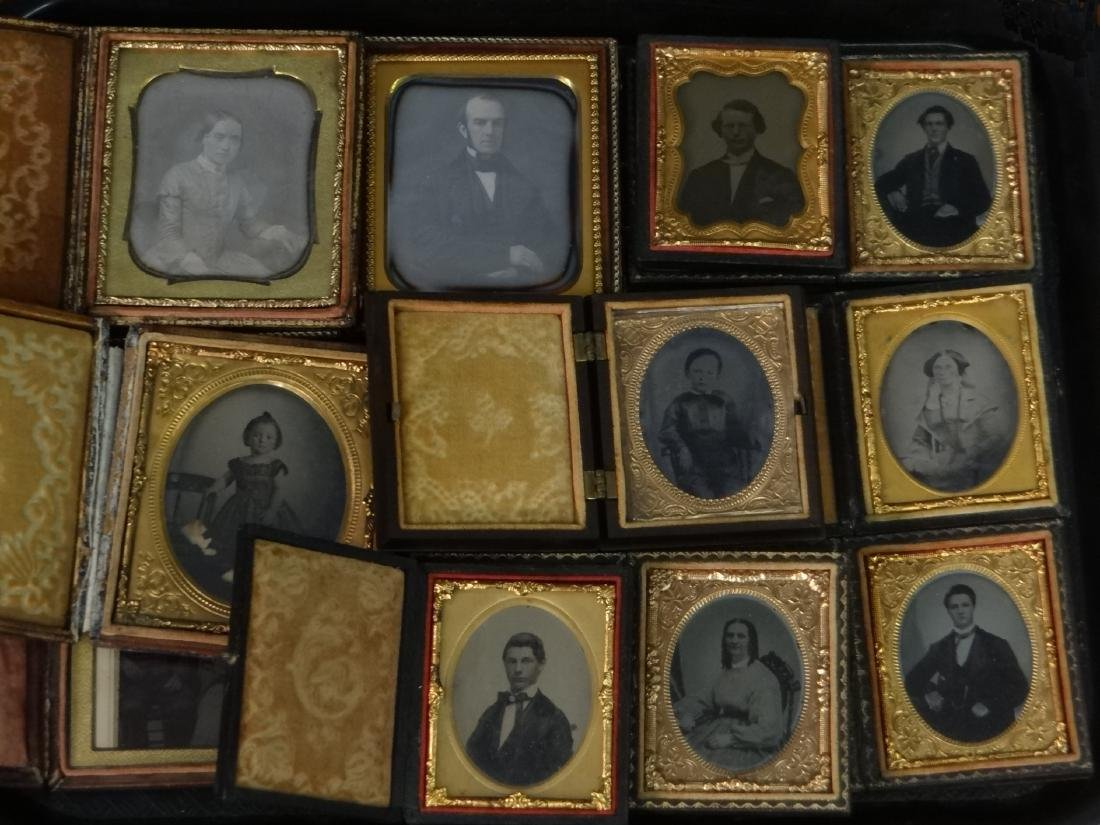 19THC. CASED IMAGES, DAGS, AMBROS & TIN TYPES - 2
