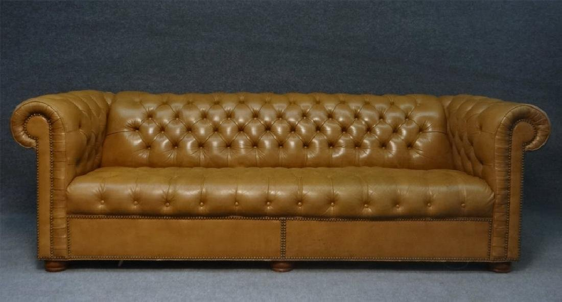 CHESTERFIELD BUTTON BACK SOFA IN LEATHERETTE