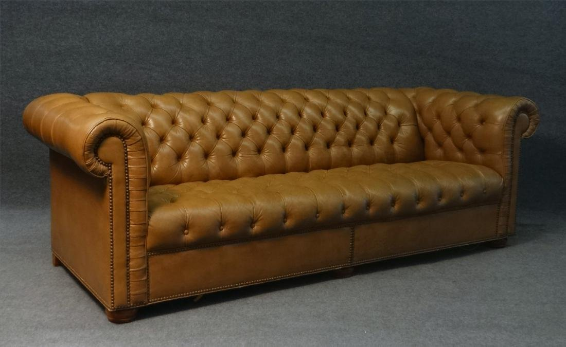 CHESTERFIELD BUTTON BACK SOFA IN LEATHERETTE - 2