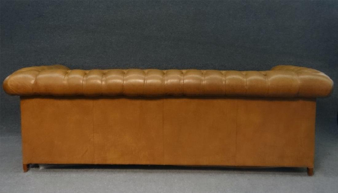 CHESTERFIELD BUTTON BACK SOFA IN LEATHERETTE - 4