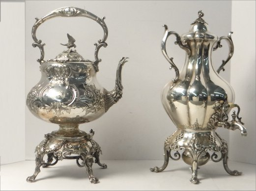 VICTORIAN SILVER PLATED HOT WATER KETTLE & URN