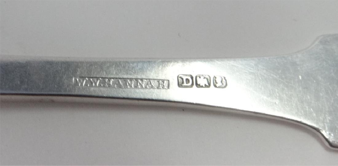 6 COIN SILVER SPOONS BY NYC MAKER - 5