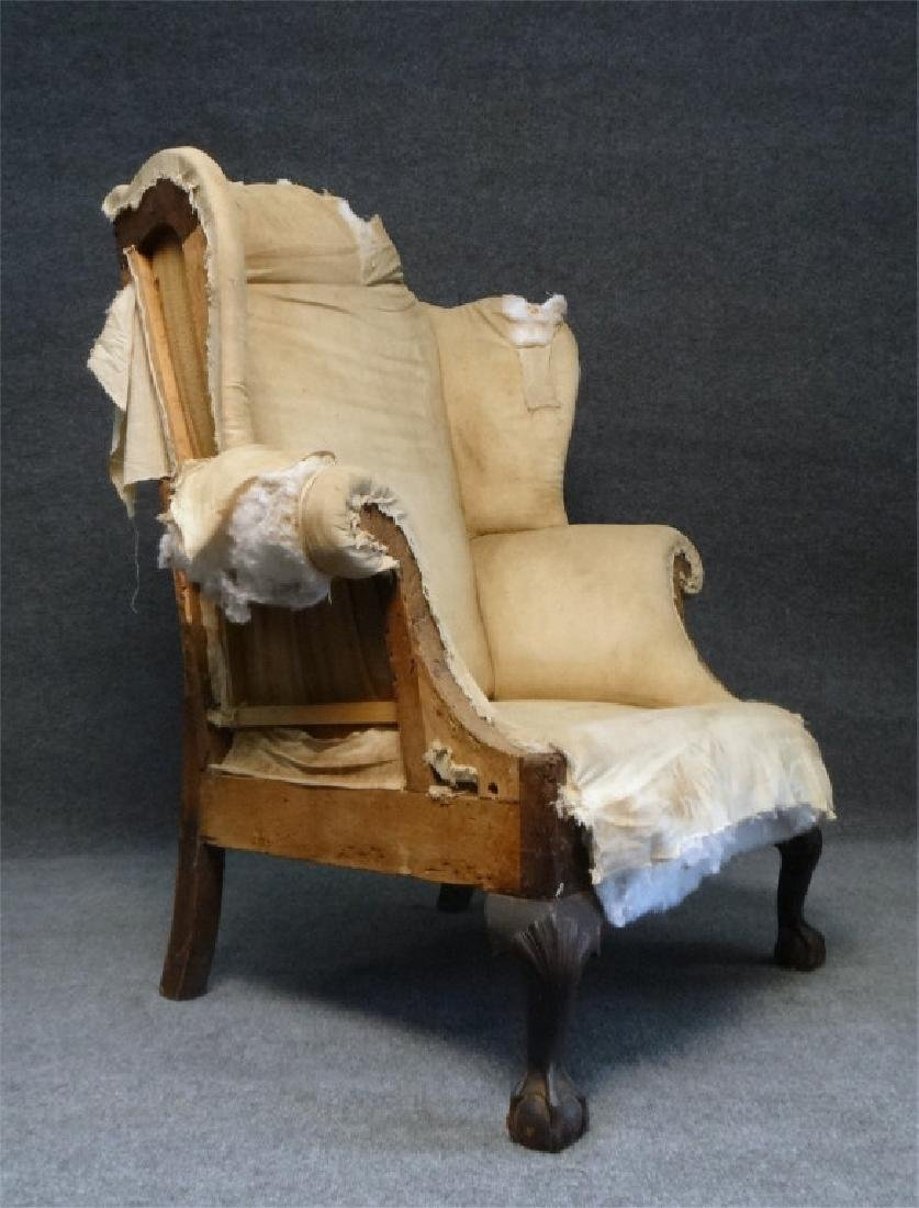 RARE SOUTHERN WING BACK CHAIR W/ BALD CYPRESS &
