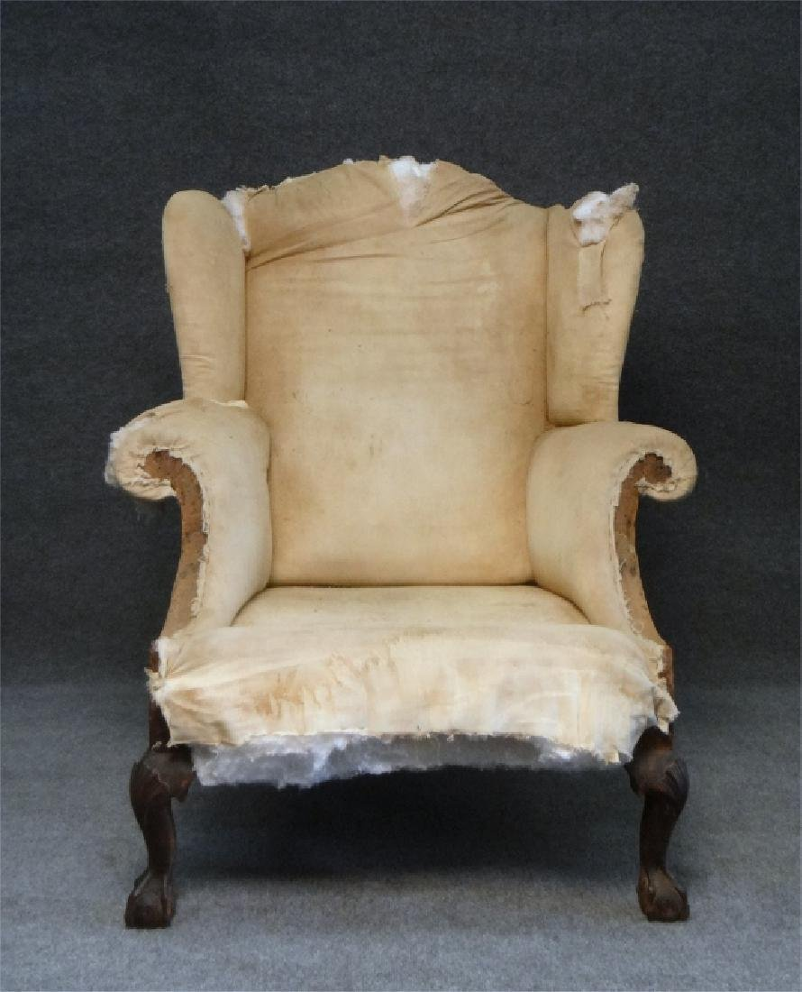 RARE SOUTHERN WING BACK CHAIR W/ BALD CYPRESS & - 2