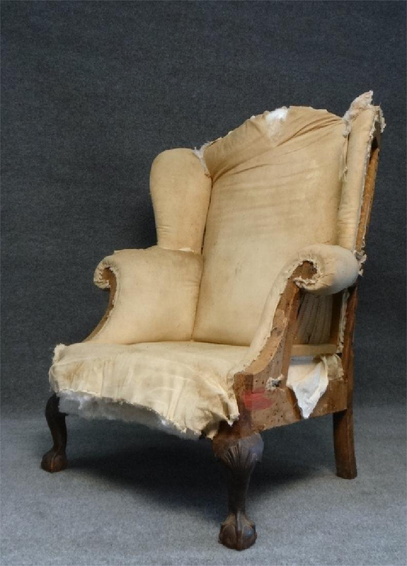 RARE SOUTHERN WING BACK CHAIR W/ BALD CYPRESS & - 3