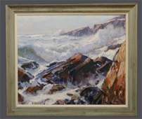 "O/C EMILE A. GRUPPE ""GLOUCESTER SURF ON BASS ROCK"""