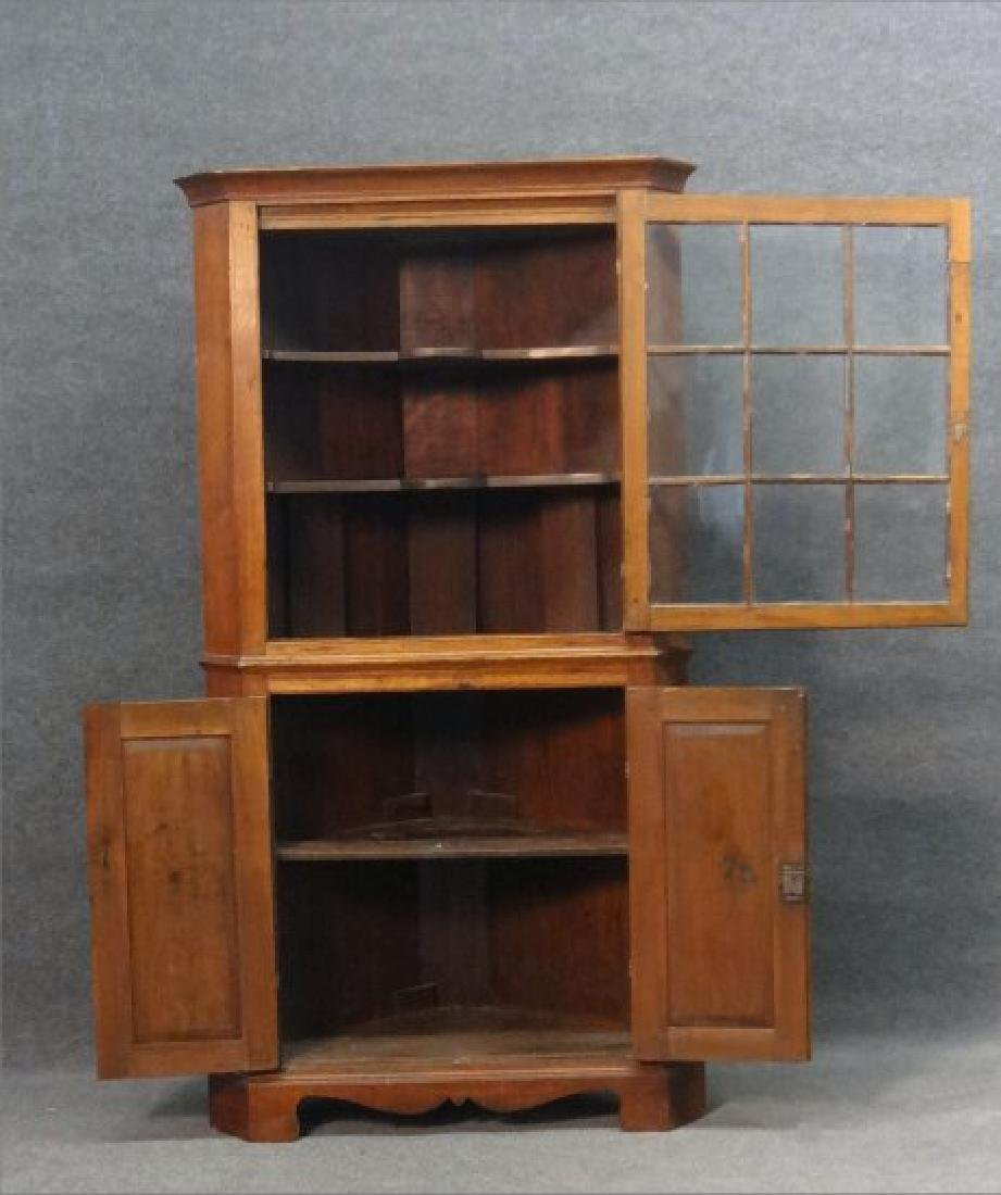 "EARLY 19THC. CORNER CUPBOARD W/ ""H"" HINGES - 2"