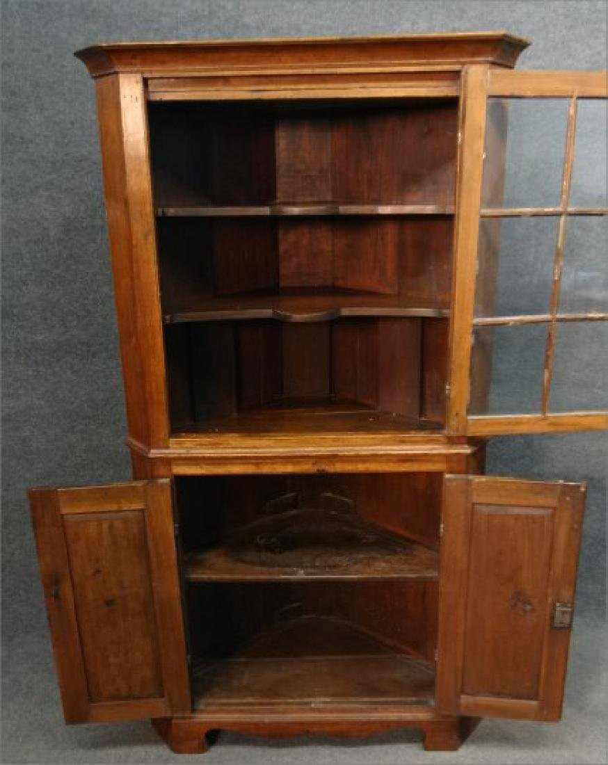 "EARLY 19THC. CORNER CUPBOARD W/ ""H"" HINGES - 3"