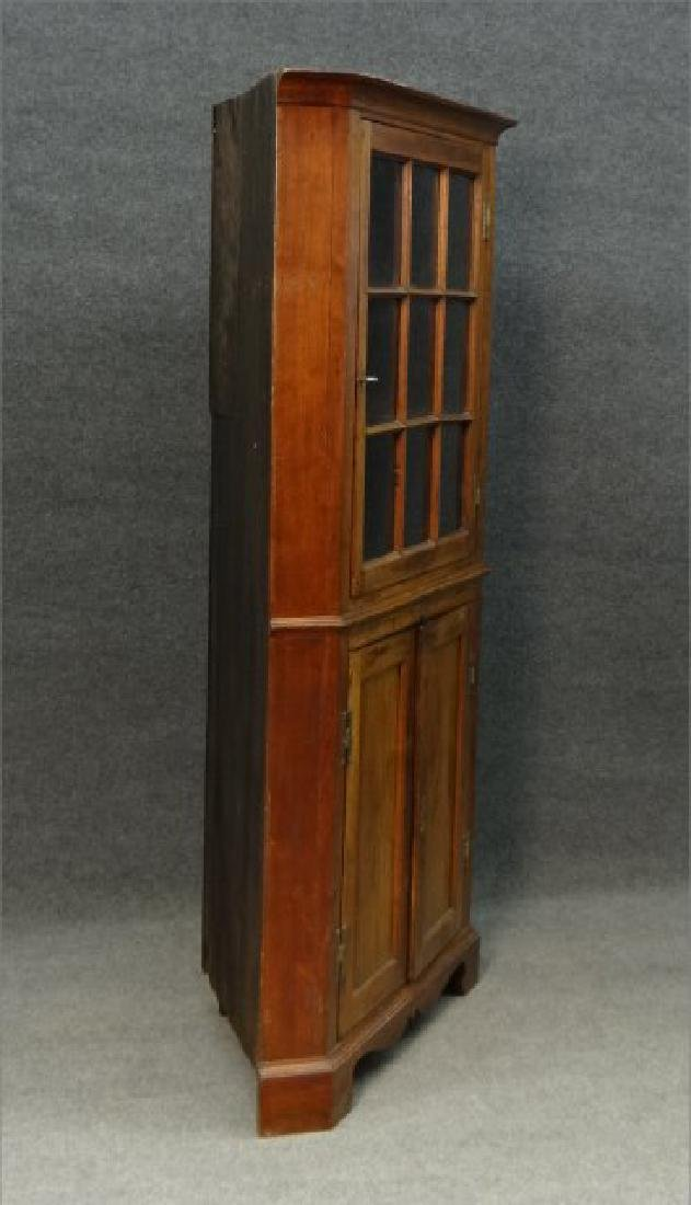"EARLY 19THC. CORNER CUPBOARD W/ ""H"" HINGES - 4"