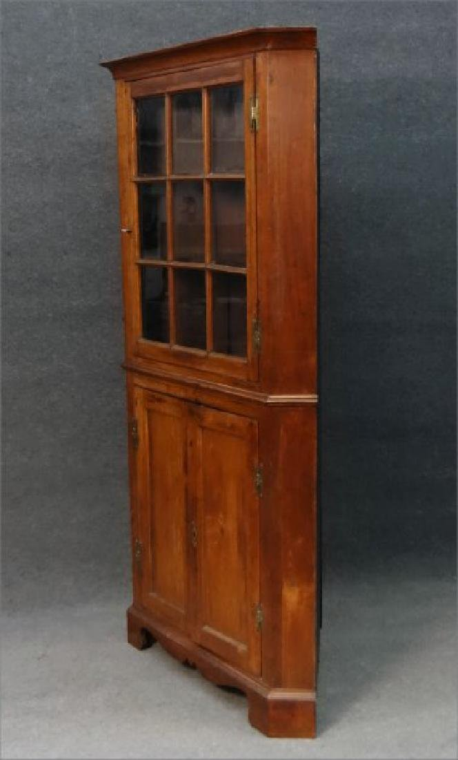"EARLY 19THC. CORNER CUPBOARD W/ ""H"" HINGES - 5"