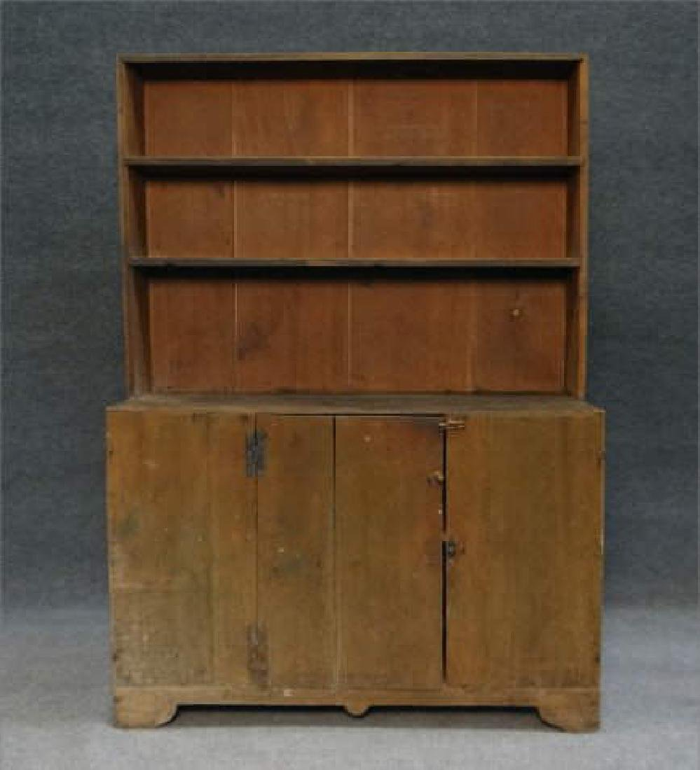 DIMINUTIVE COUNTRY STEPBACK CUPBOARD
