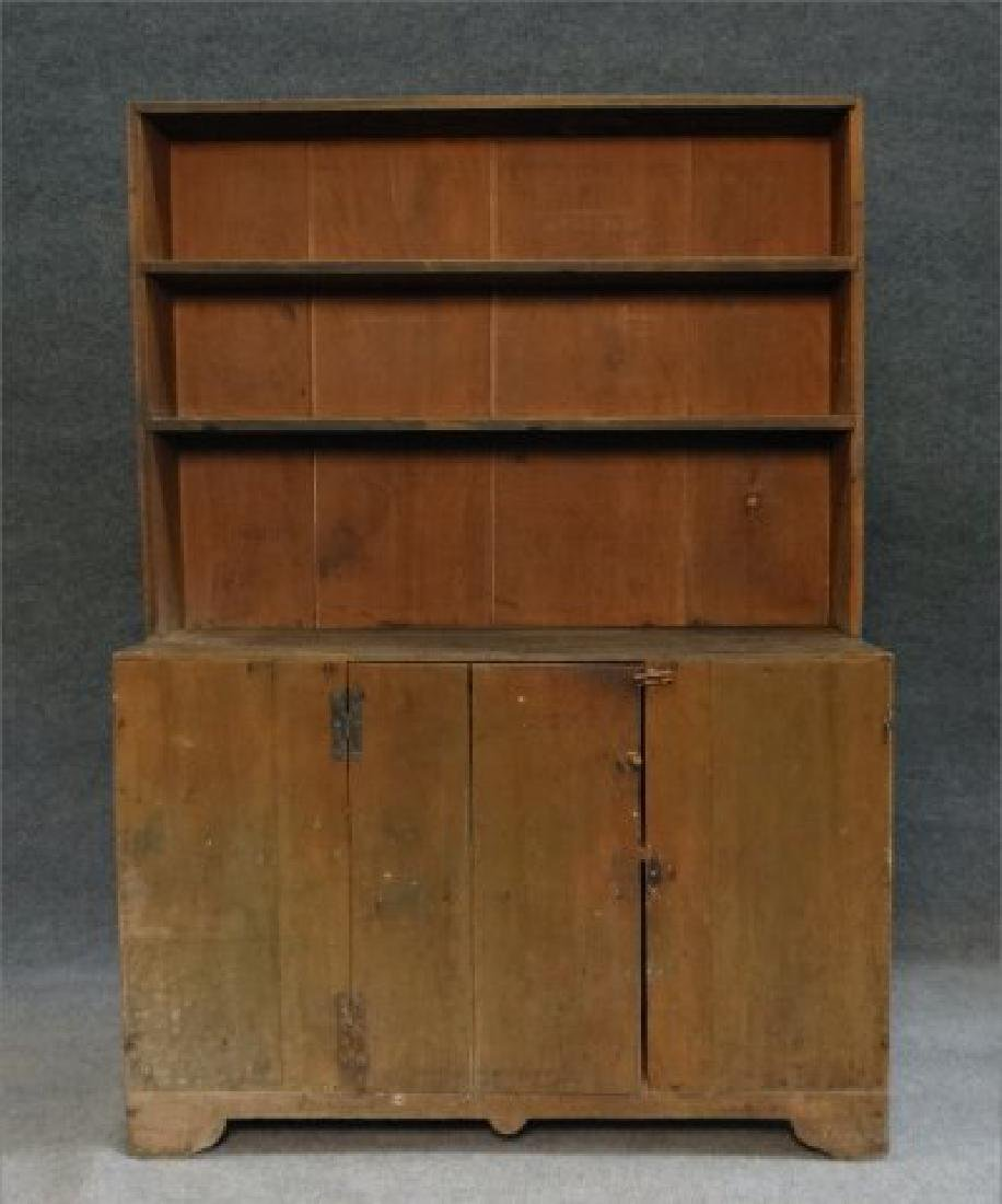 DIMINUTIVE COUNTRY STEPBACK CUPBOARD - 2