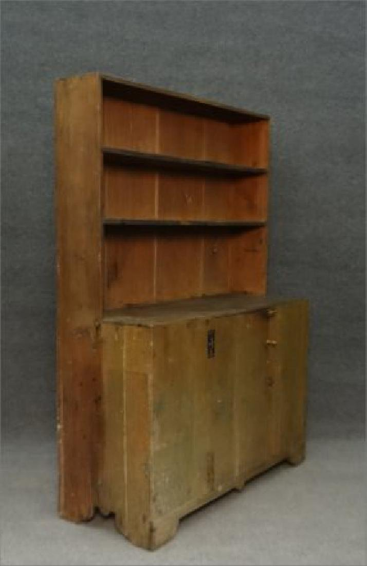 DIMINUTIVE COUNTRY STEPBACK CUPBOARD - 4