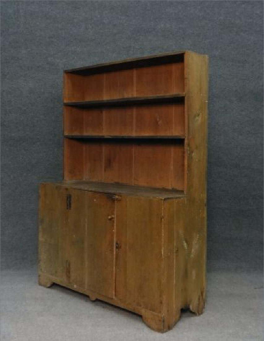 DIMINUTIVE COUNTRY STEPBACK CUPBOARD - 5