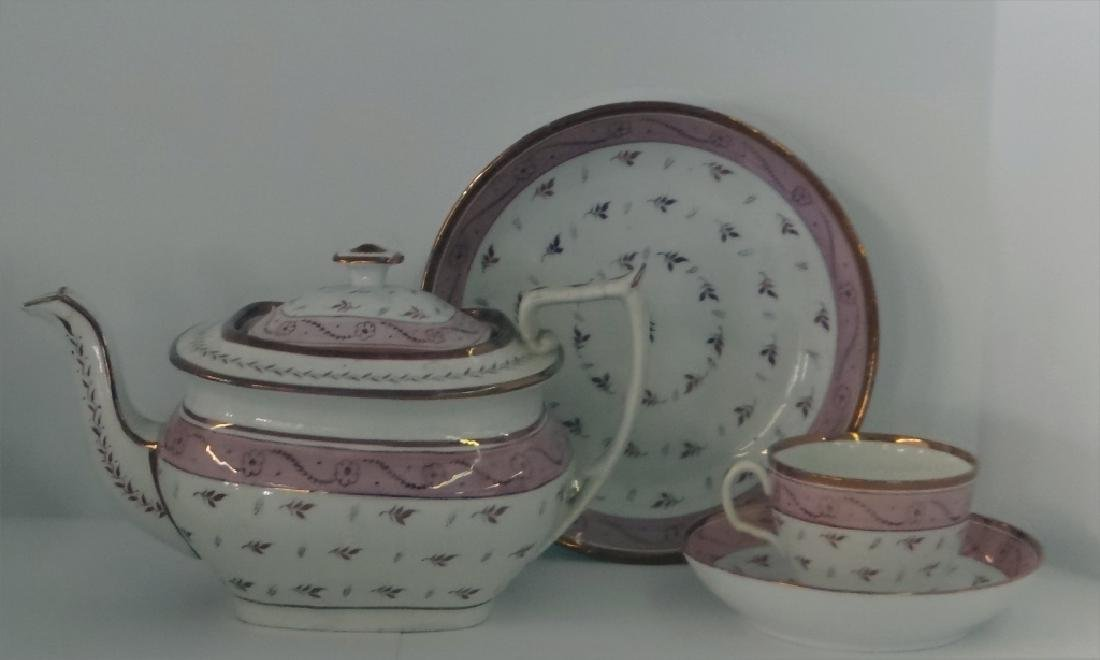 OVER 24 PCS. PINK LUSTER INC. CUPS & SAUCERS, - 2