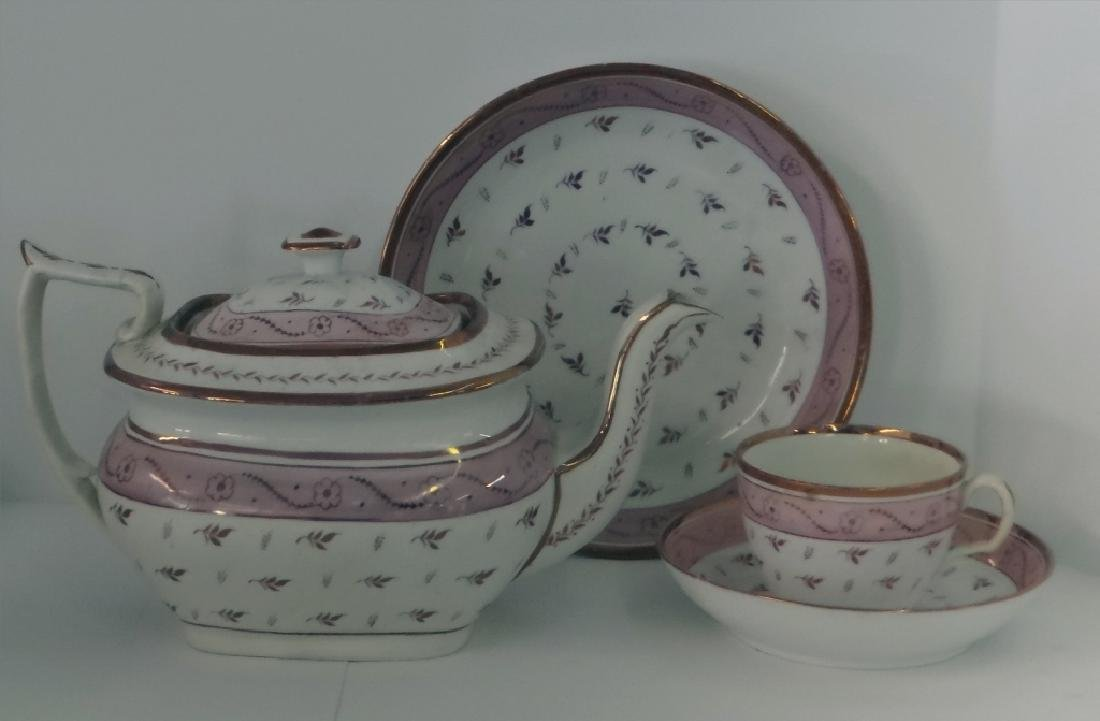 OVER 24 PCS. PINK LUSTER INC. CUPS & SAUCERS, - 3