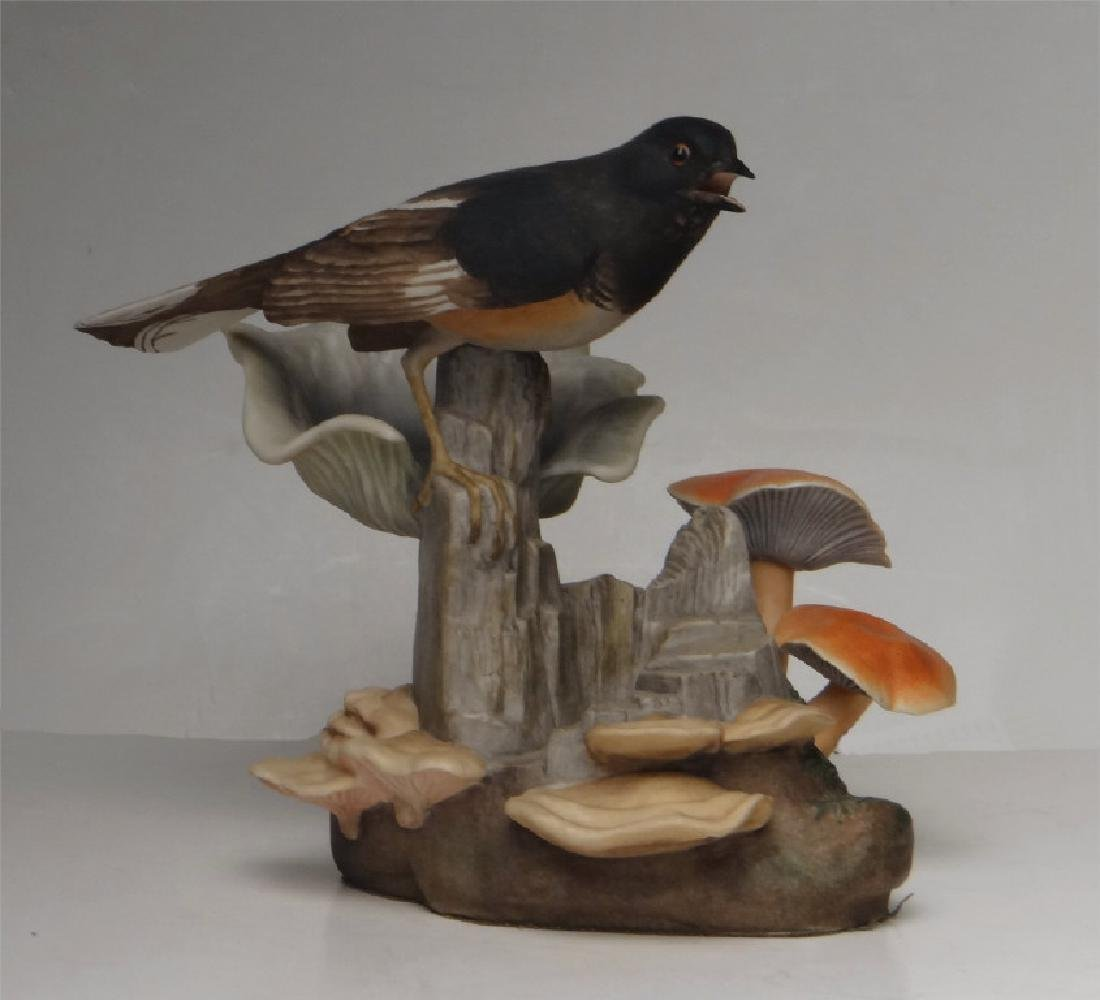 "BOEHM PORCELAIN ""TOWHEE"" BIRD FIGURE 7 1/4"" TALL"