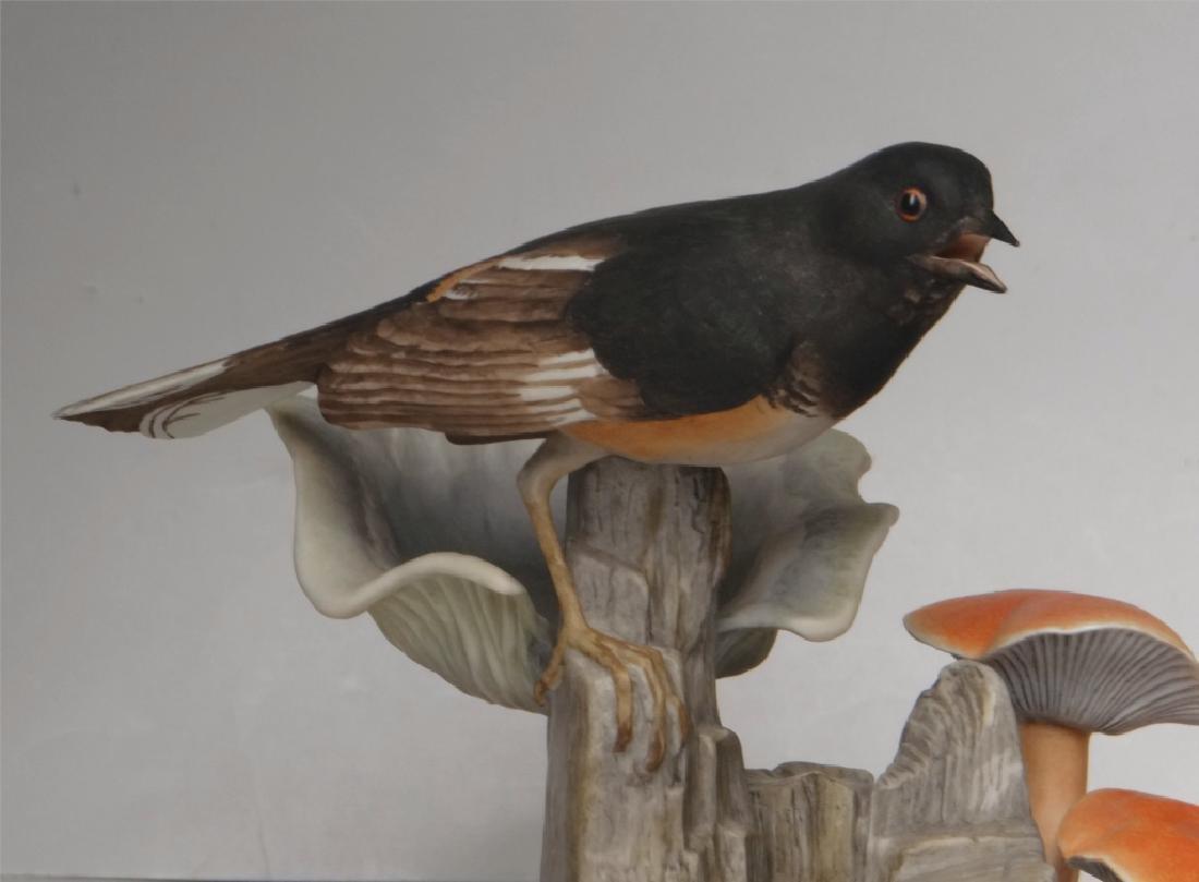 "BOEHM PORCELAIN ""TOWHEE"" BIRD FIGURE 7 1/4"" TALL - 2"