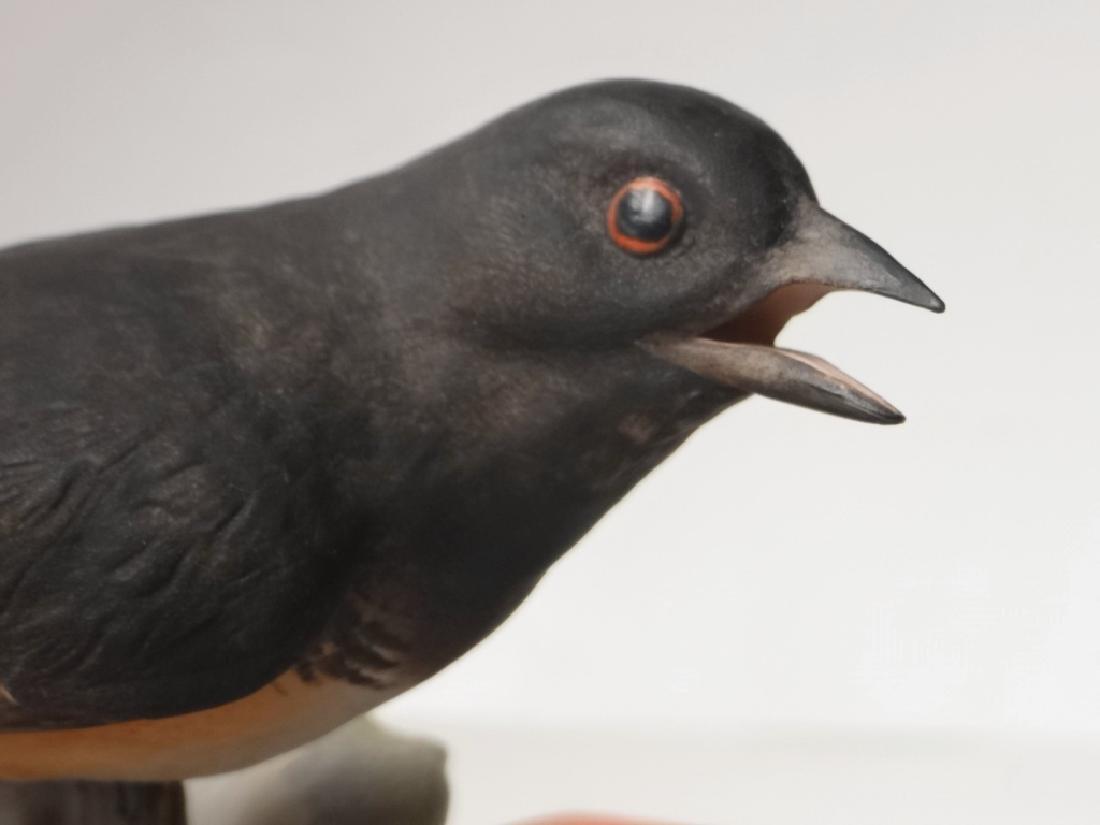 "BOEHM PORCELAIN ""TOWHEE"" BIRD FIGURE 7 1/4"" TALL - 3"