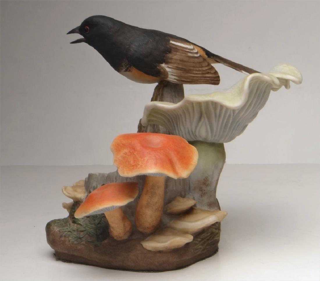 "BOEHM PORCELAIN ""TOWHEE"" BIRD FIGURE 7 1/4"" TALL - 4"