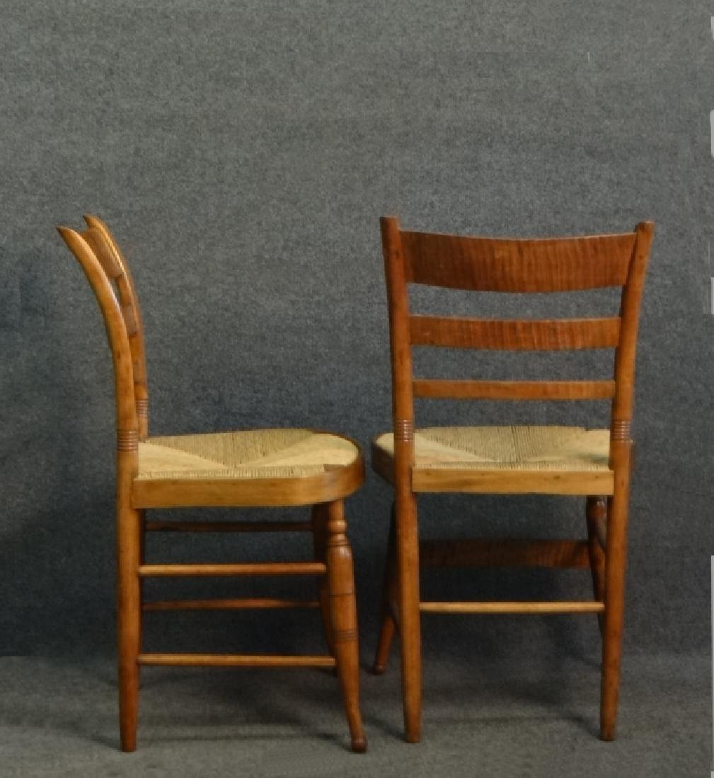 SET OF 6 TIGER MAPLE SHERATON FANCY CHAIRS - 4