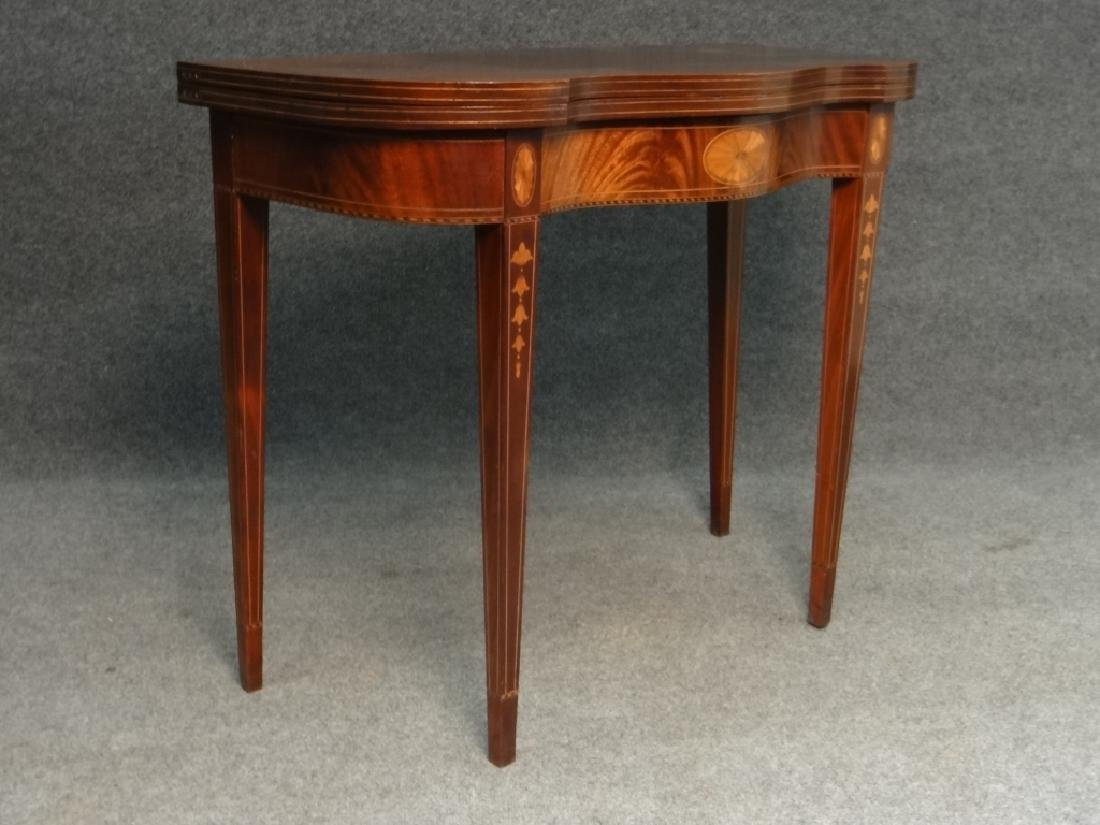 CENTENNIAL HEPPLEWHITE STYLE INLAID CARD TABLE - 2