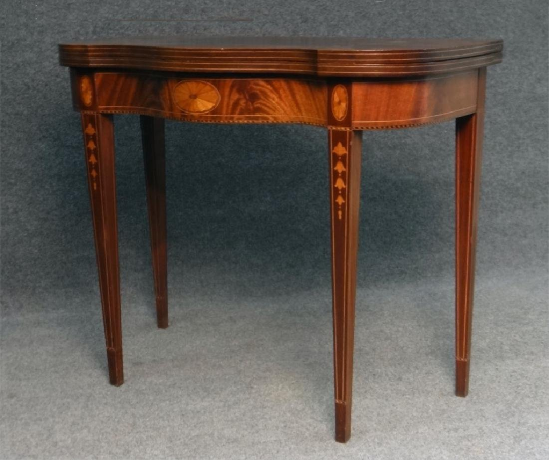 CENTENNIAL HEPPLEWHITE STYLE INLAID CARD TABLE - 3