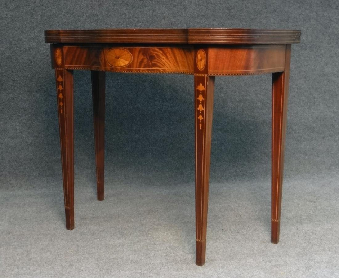 CENTENNIAL HEPPLEWHITE STYLE INLAID CARD TABLE - 4