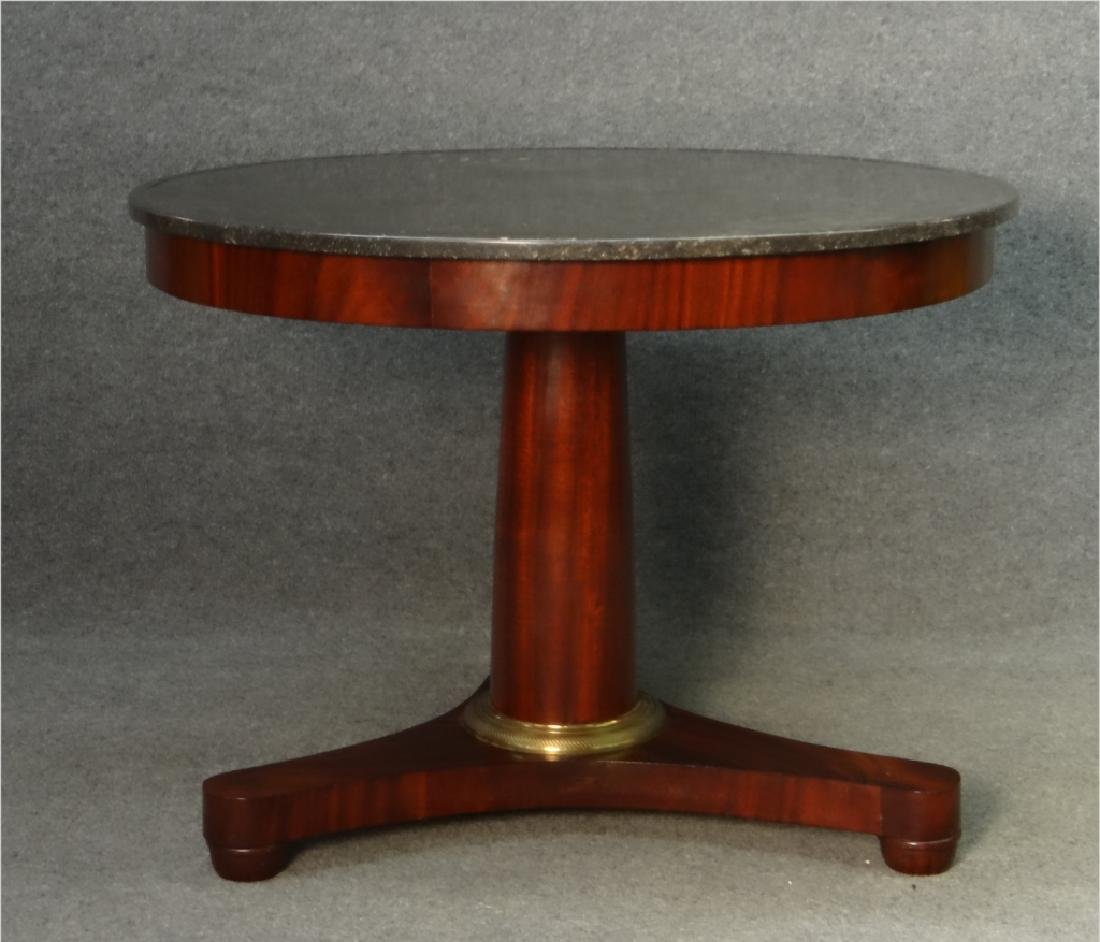 "FRENCH MARBLE TOP CENTER TABLE (39"" DIAM X 29"" T) - 2"