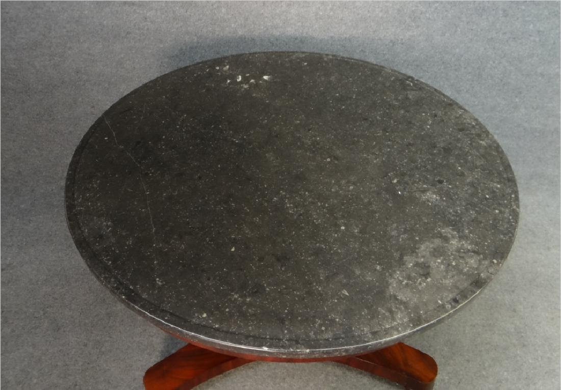 "FRENCH MARBLE TOP CENTER TABLE (39"" DIAM X 29"" T) - 4"
