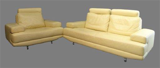 Miraculous Nicoletti Italian Leather Sofa Chair In Cream Ncnpc Chair Design For Home Ncnpcorg