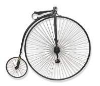 VINTAGE 19THC. BIG WHEEL BICYCLE W/ DANBURY FAIR