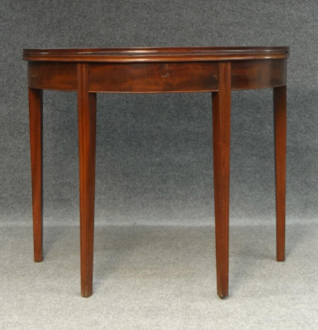 MAHOGANY CHIPPENDALE CARD TABLE C.1800 W/ MOLDED LEG