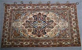 FINELY WOVEN SEMI ANTIQUE PERSIAN AREA RUG 49 X 84