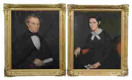 AMMI PHILLIPS PORTRAITS  MR. & MRS LUTHER TUCKER