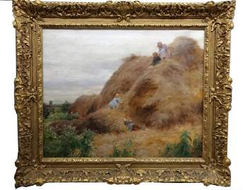 CHARLES COURTNEY CURRAN, OIL / CANVAS, DATED 1895