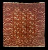 SEMI ANTIQUE BOKARA AREA RUG C 1920 48 x 43 14