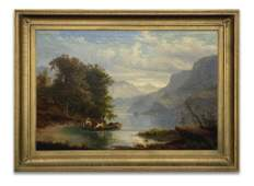 J. H. CARMIENCKE, ITALIAN LAKES SCENE, OIL /CANVAS
