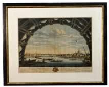 """""""VIEW OF THE CITY OF LONDON"""" 1747, LARGE FOLIO HAND"""
